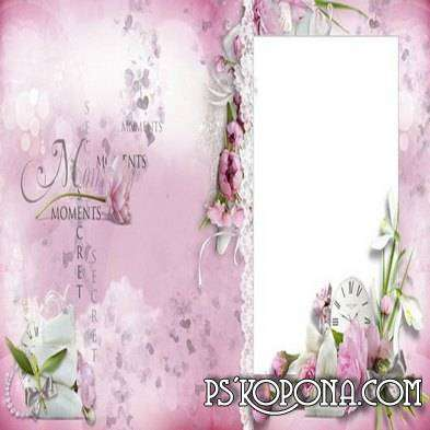 wedding photo album template psd for photo - Magic tenderness