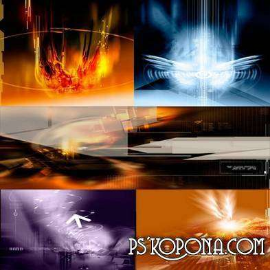 Abstract PSD backgrounds multifocal part 2