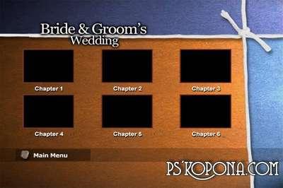 50 menus for Wedding DVD with a bonus