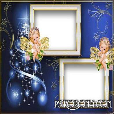 Frame for Photoshop - Christmas candle