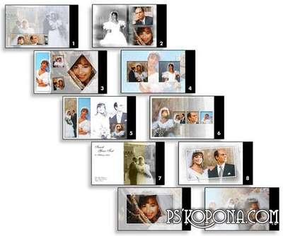 PSD Classic wedding album template Vol.5