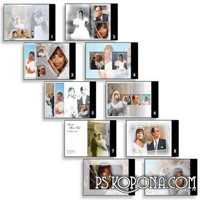 PSD Classic wedding album template Vol.5