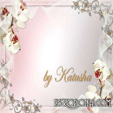 PSD Frame for Photoshop - Luxury Orchids