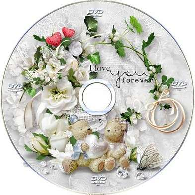 Free Wedding set of DVD cover templates and blowing on the disc- Eternal Love