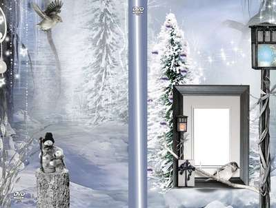 Free Download Winter DVD cover template from Google Drive