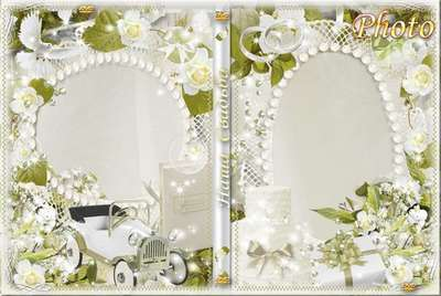 Free Wedding set - photo frame, DVD cover template and blowing to disk - Our Wedding