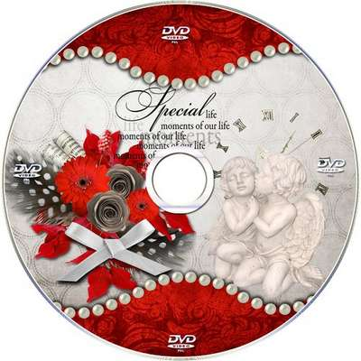 Free Vintage DVD set, cover and blowing on the disc - Special moments
