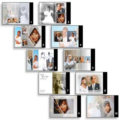 Templates for a wedding album template from SPC international Vol.5