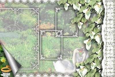 A framework for design a wedding album template