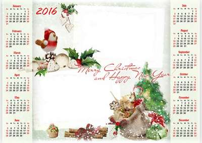 FREE Kids Calendar-frame 2016 - Merry Christmas and Happy New Year 6 PNG part 2