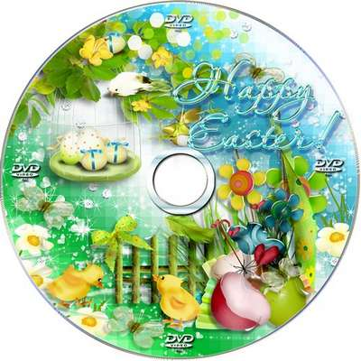 Multilayer holiday set - blowing and the cover on DVD - Merry Happy Easter