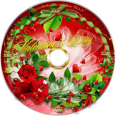Romantic set for Valentine's day - blowing,DVD cover template and calendar for 2012-You whisper softly of love