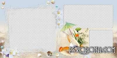 Summer photobook template psd - Bright sunny days