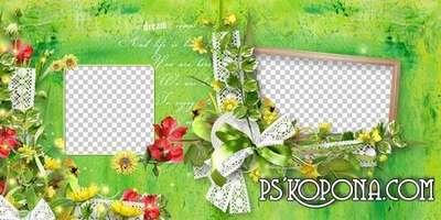 Summer photobook template psd - Wonderful Days