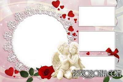 Soft pink photo book template psd for newlyweds - Our wedding