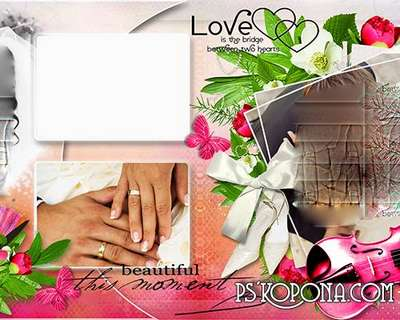 Template romantic wedding photo book template-Fine Moments