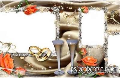 Romantic Photobook template psd - Wedding Flowers