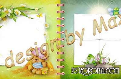 Baby photobook template psd - My favorite book