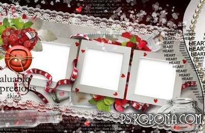 Romantic- wedding photo book template-Made in Love