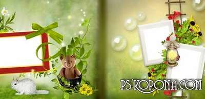 Photobook template psd for Photoshop - Breath of a summer day