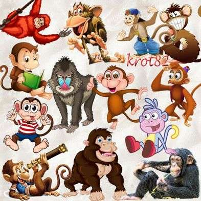 Free clipart png for photo design - monkeys - symbol 2016