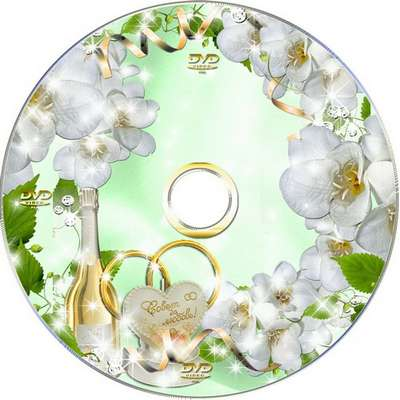 Wedding set-Blowing, cover to a DVD disc and frame-Tip and love for many years