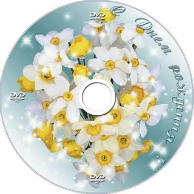 Cover DVD and blowing on a disk - With Birthday