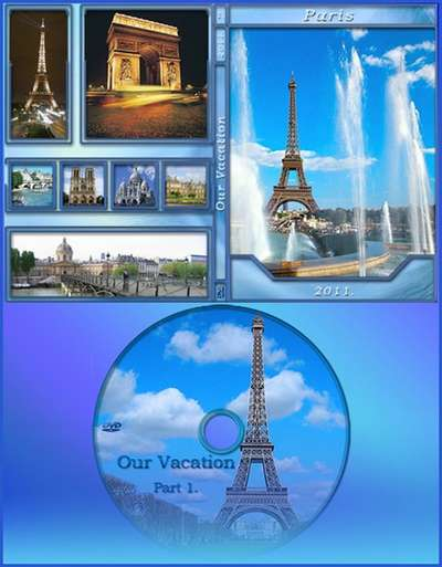 DVD cover template – Our vacation -Paris