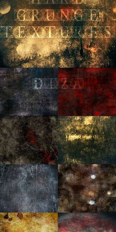 Hard grunge textures overlap by DiZa