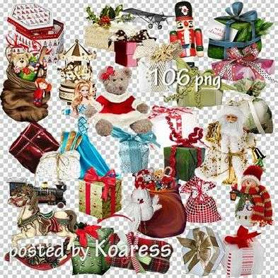Photoshop png clipart - christmas gifts png