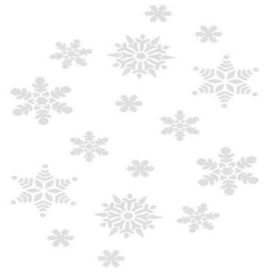 Clipart png on a transparent background - Snowflakes and stars