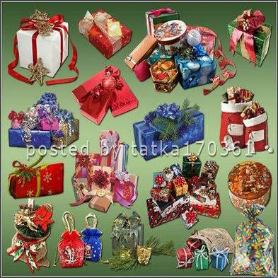 Cristmas graphics png for Photoshop - Christmas gifts