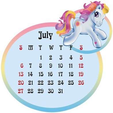 Calendar grid png template  for 2014 year of the Horse - Funny horses