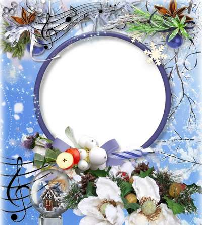 Free Christmas frame png + photo frame psd template photoshop - Free download