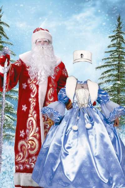 Free Little Snow Maiden psd template - New templates psd for photoshop girls