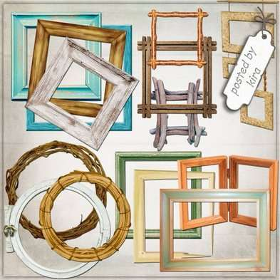 Free Wooden frames png - free download set 121 frame png
