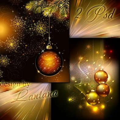 Free Christmas Layered PSD backgrounds - Magical Christmas holiday 29 - Free download