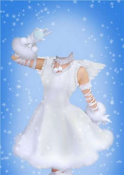 PSD Template for girls - psd dressed as angels