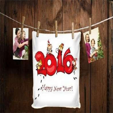 Free Christmas psd photo frame - happy New year 2016 - Free download
