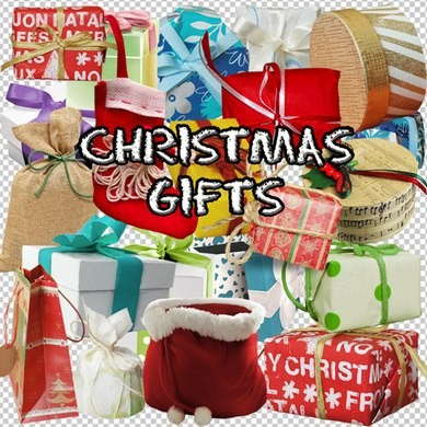 Clipart on a transparent background - Christmas gifts