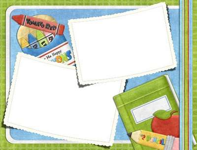 Collection of children's PNG + PSD picture frames - I am a student