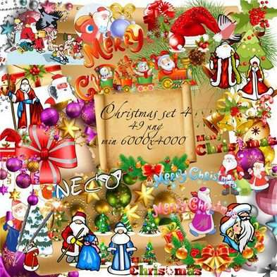 Christmas png cliparts set 4 - Free download