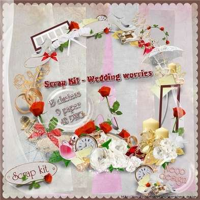 Scrap Kit 42 PNG - Wedding worries