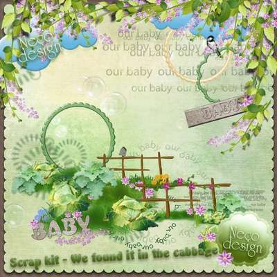 Scrap kit 38 PNG - We found it in the cabbage