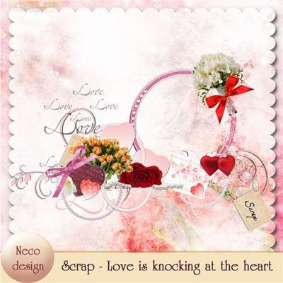 Scrap 33 PNG - Love is knocking at the heart