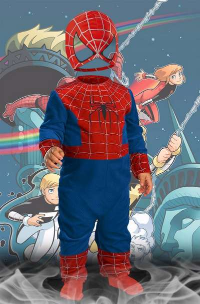 Children's psd costume for boy Spider Man