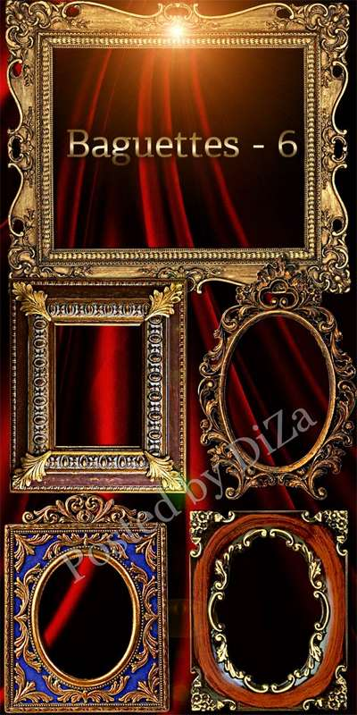 Free Luxury Baguettes frames png part 6 - Free download