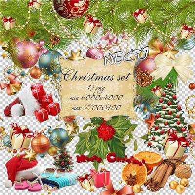 Christmas set cliparts png