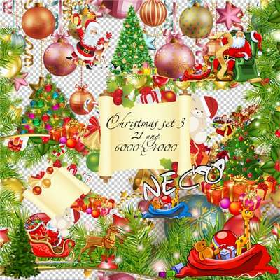 Christmas cliparts set 3