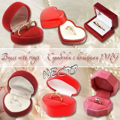 Wedding boxes with rings